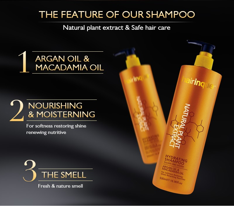 Private label deep cleansing smoothing sulfate free shampoo for greasy hair