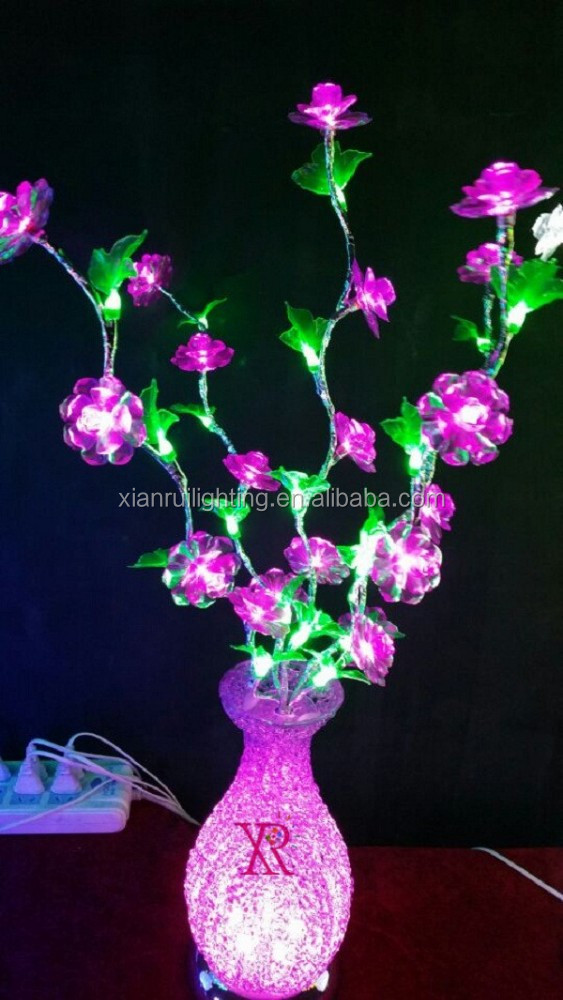 Hot New Products Christmas Lighting for Decoration Led Flower Light Base Under Vase