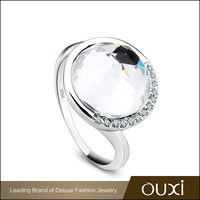 OUXI big crystal wedding ring fashion AAA CZ rings wholesale Y70075