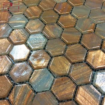 Gold Bronze Broken Gl Mosaic Tiles