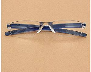e7ef58e201c Lightweight Blue Rimless Resin Magnifying Reading Glasses Fatigue Relieve  Strength 1.0 1.5 2.0 2.5 3.0 by