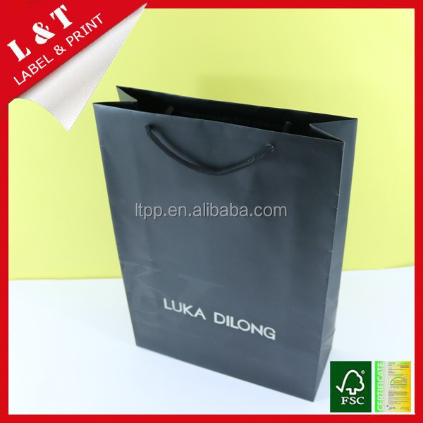 Quality guaranteed paper shopping bag for shoes