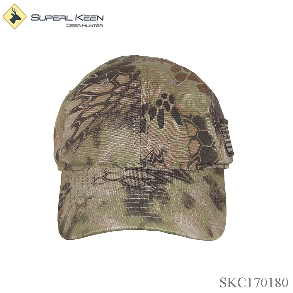 China Supplier Customized Wholesale Embroidery Design Tonal Side American Flag Cap Hunting Cap