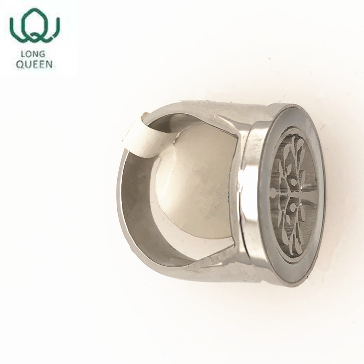 New Islamic ring silver stainless steel round ring tree sleek minimalist