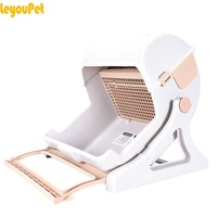 Leyou Pet Hot selling Auto pet grooming cat toilet self cleaning automatic cat litter box litter pan