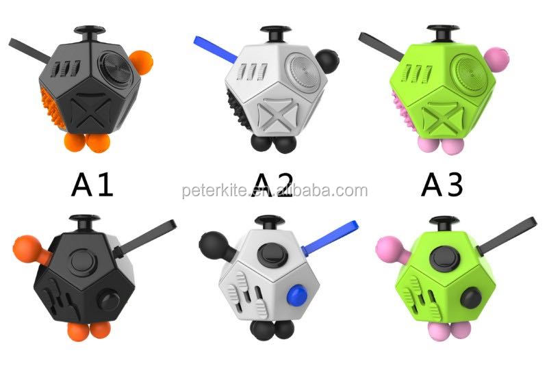 2017 brand top quality 12-Sided fidget cube 9 colors in stock