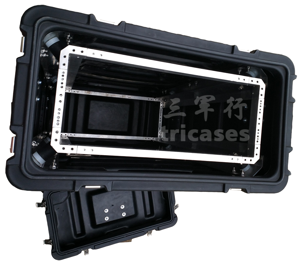 New arrive <strong>cases</strong>!Tricases factory Deep 9U waterproof dustproof rotational molded hard <strong>plastic</strong> rack mount <strong>case</strong> RU090