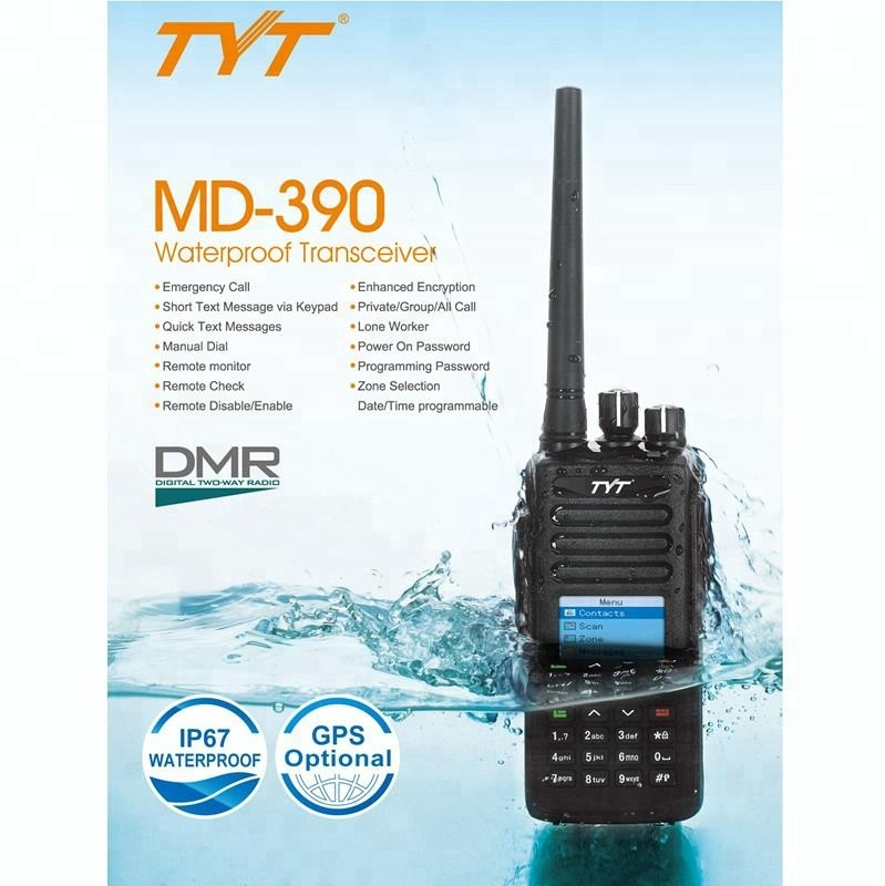 TYT MD-390 IP67 imperméable DMR talkie-walkie radio 3-10 km VHF/UHF pour vous choisir