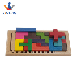 Wooden Tetris Puzzles Katamino Classic Puzzle and Game Tangram Brain Teaser Educational Toys