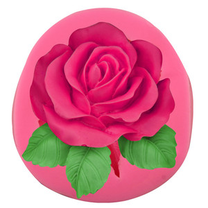 large rose flower DIY 3D Fondant silicone cake soap mold