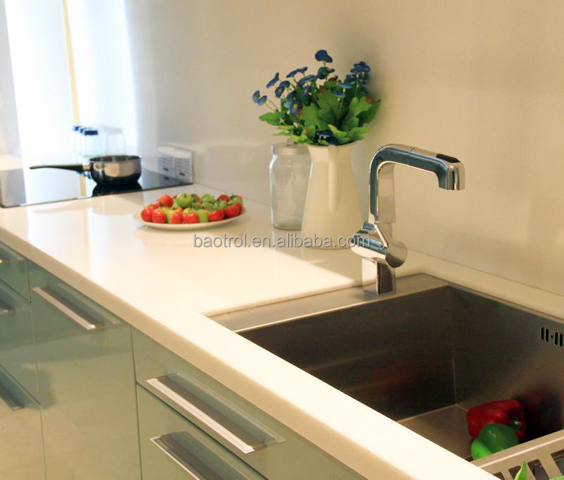 White Star Quartz Waterfall Edge Kitchen Countertop Paint - Buy Waterfall  Edge Kitchen Countertop,Kitchen Countertop Paint,White Star Quartz Kitchen  ...