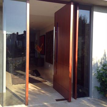 Solid Wooden New Design Main Wooden Narra Wood Pivot Door