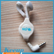 China Wholesale Portable Retractable Earphones Reel Cable for Mobile