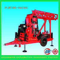 Strongly Recommended Trailer Mounted Rotary Core Road Drilling Machine With Hydraulic Mast