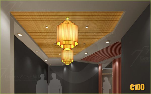 Interior Decoration Eco Material Design Plastic Ceiling Wood