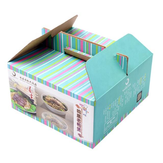 Anpassen geschenk box mit griff papier geschenk box mit seil griff logo gedruckt