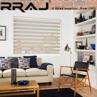 RRAJ Fabric Day Night Blinds Zebra Curtain