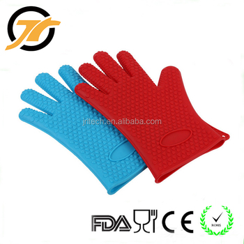 Heat Resistant Silicone Bbq Gloves Kitchen Cooking