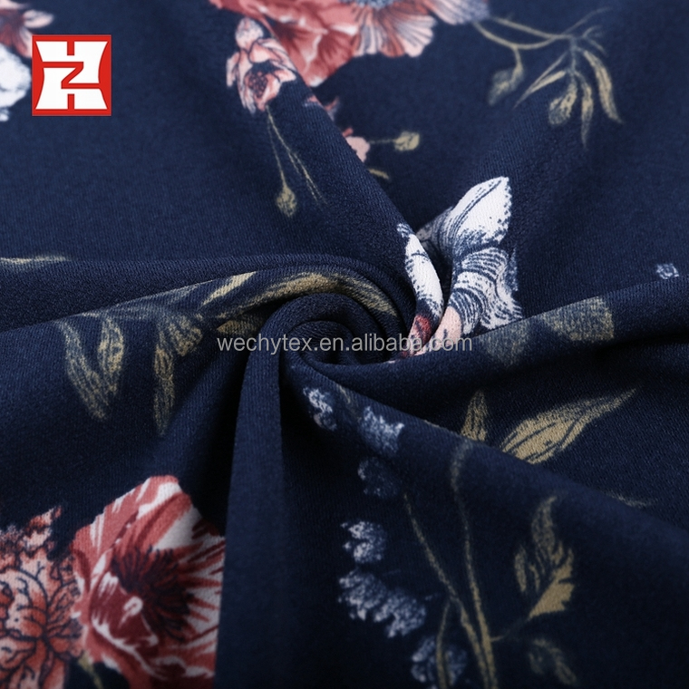 fast delivery faces print super korean crepe fabric ity looking crepe 95 polyester 5 spandex fabric