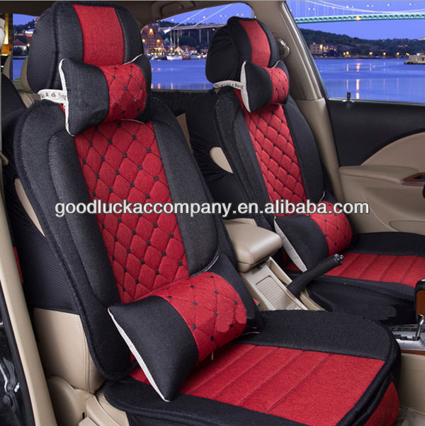 Terry Cloth Car Seat Cushion Cover Red And Black