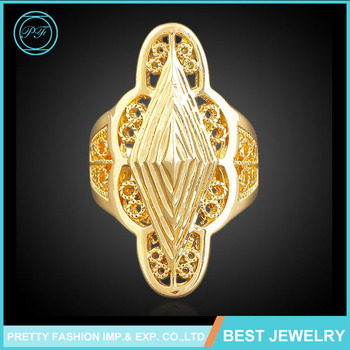 Latest Beautiful 18k Gold Plated Finger Ring Wholesale Fancy