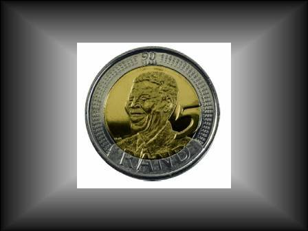 MANDELA 90th BIRTHDAY 5 RAND COINS