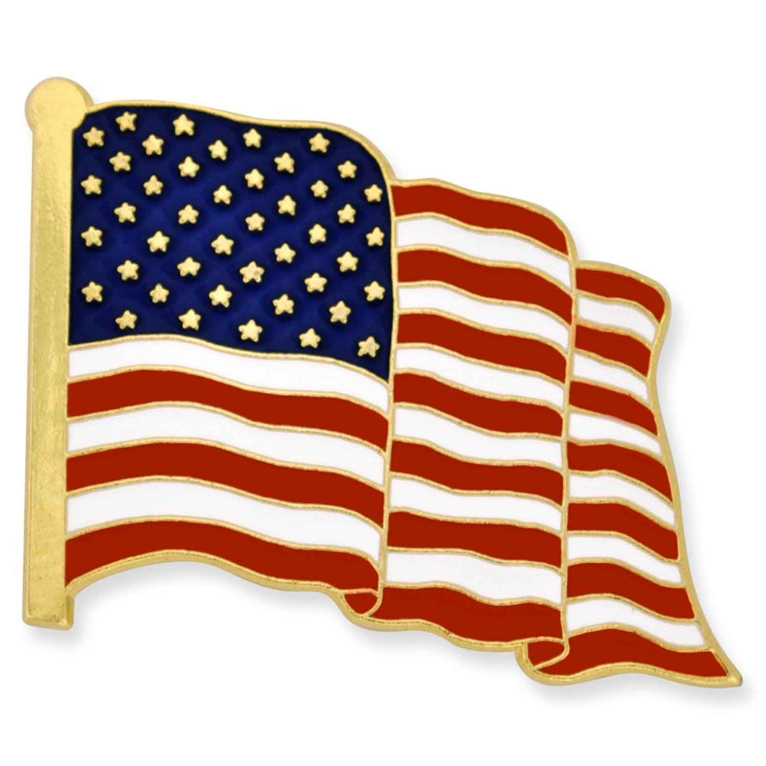 Get Quotations · PinMartu0027s Proudly Made In USA American Flag Jewelry  Quality Gold Enamel Lapel Pin