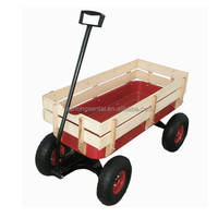Kids All Terrain Red Wooden Wagon
