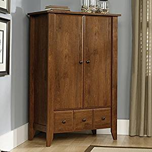 Get Quotations · Wardrobe Closet Wood Armoire W Tapered Legs U2013 Bedroom  Bureaus And Dressers With Drawer Storage Oak