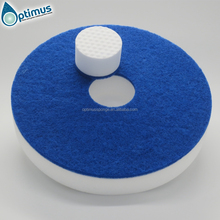 17 ''inch Kwaliteit <span class=keywords><strong>Ronde</strong></span> Melamine Foam Pads Polijsten Floor Cleaning Pads vloer zorg pad