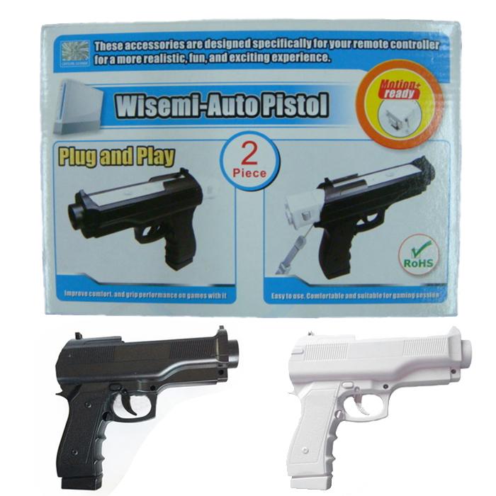 Новое поступление 2x стрельбе из пистолета световой пистолет спорт для Nintendo Wii игры пульта дистанционного управления аксессуаров # F2058