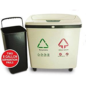 iTouchless 16-Gallon Recycling Containers With Infrared-Sensor Lid Openers
