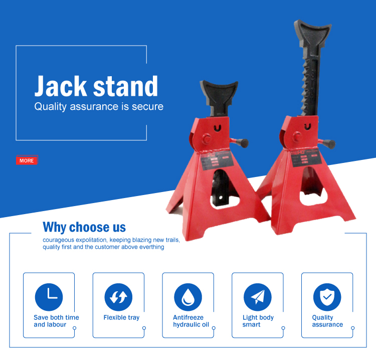 Heavy Duty tire lift small 3 ton screw adjustable car jack stands