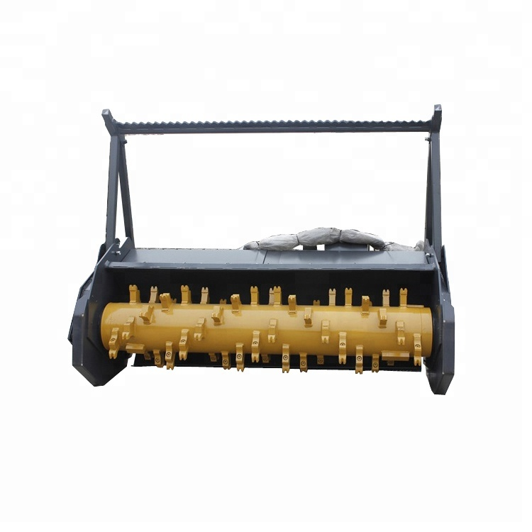 agricultural loader forest mulcher with mulcher teeth fitting