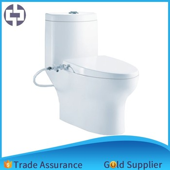 Bathroom Fittings Names One Piece WC Toilet Commode With Seat Cover And Flushing