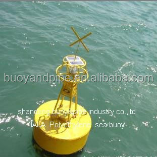 diameter 2.5m polyethylene lateral marker buoy with stainess steel frame