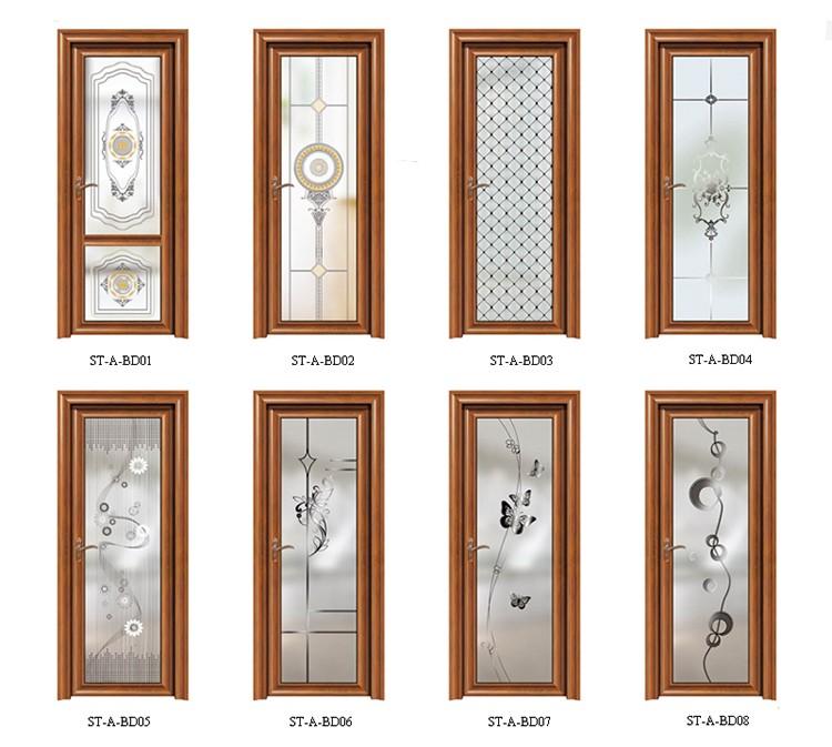 hermoso bao diseo de la puerta de vidrio esmerilado de aluminio puertas de bao