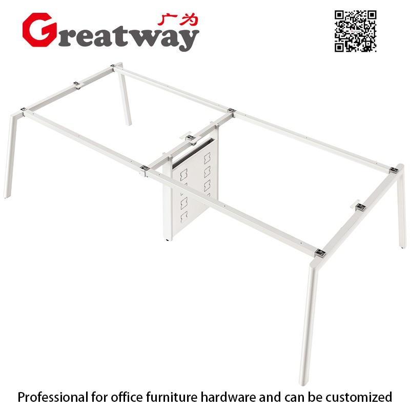 Guangzhou contracted office furniture combination staff desk screen for four employees modern computer desks and chairs