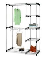 Yulong New Portable Metal Double Rod Closet