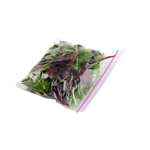 plastic PE fresh vegetable food reclosable ziplock packaging poly bags