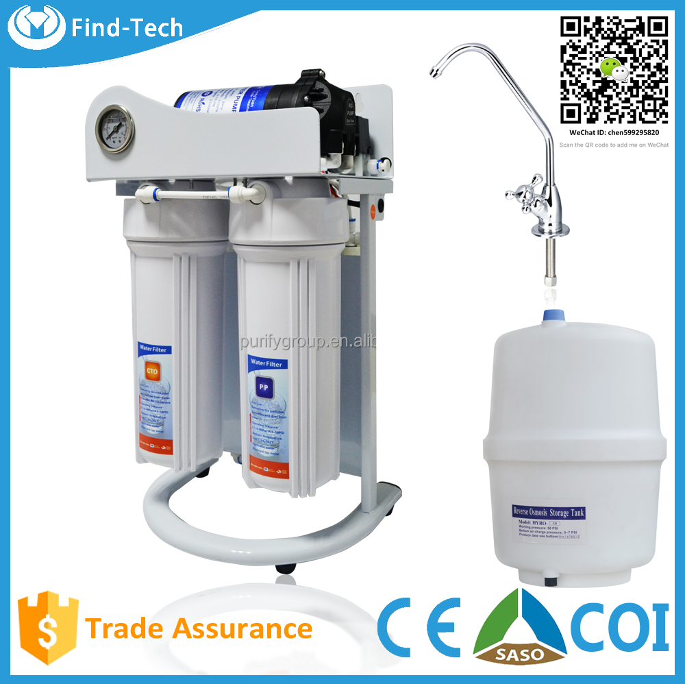 High Quality Home Used Reverse Osmosis Membrane System Under Sink Tap Water Purifier Alkaline Water