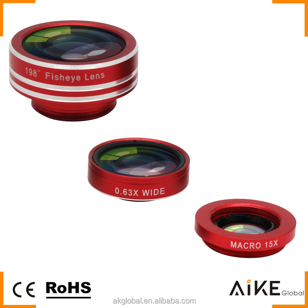Wholesale mobile phone universal clip lens wide angle fisheye lens 198 degree fish eye lens