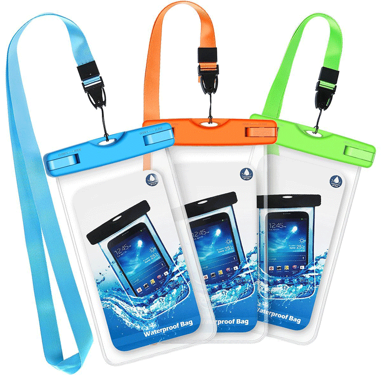 Universal PVC Swimming Waterproof Phone Case Bag for Iphone 6s 7 plus 8, Armband Water Proof Case Pouch for all Mobile Phone
