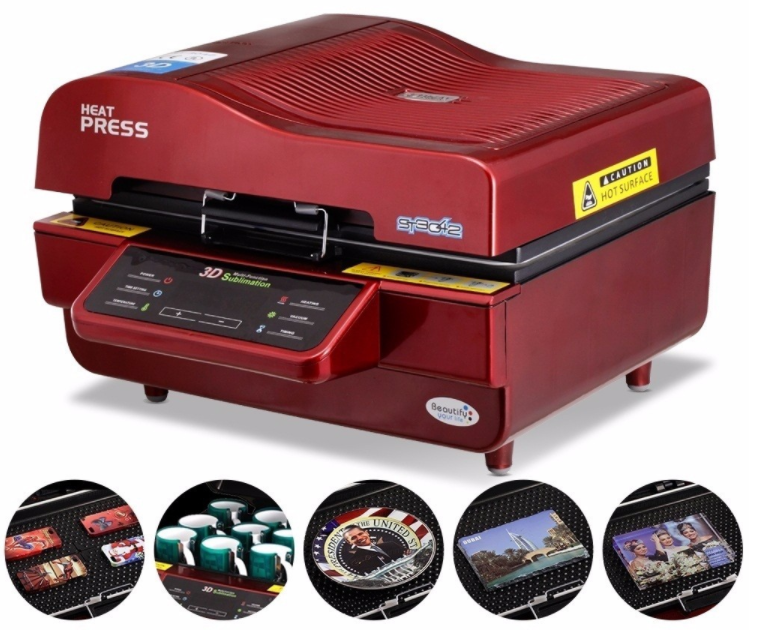 1 year warranty dye sublimation 3d new vacuum heat press machine