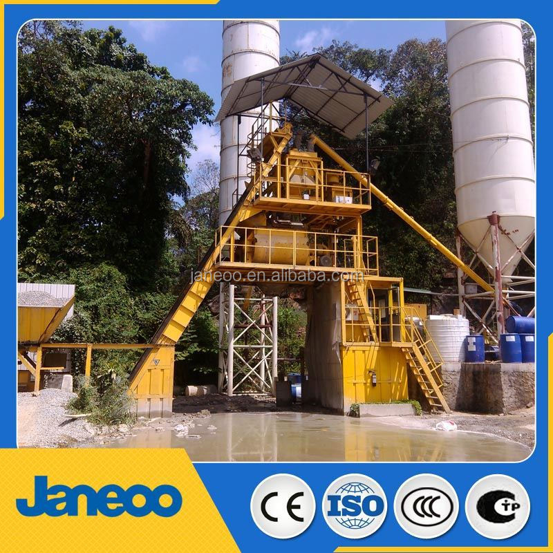 concrete batching plant with cement hopper