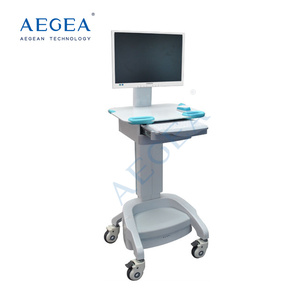 AG-WT002A ABS hospital trolley medical mobile computer carts workstations on wheels