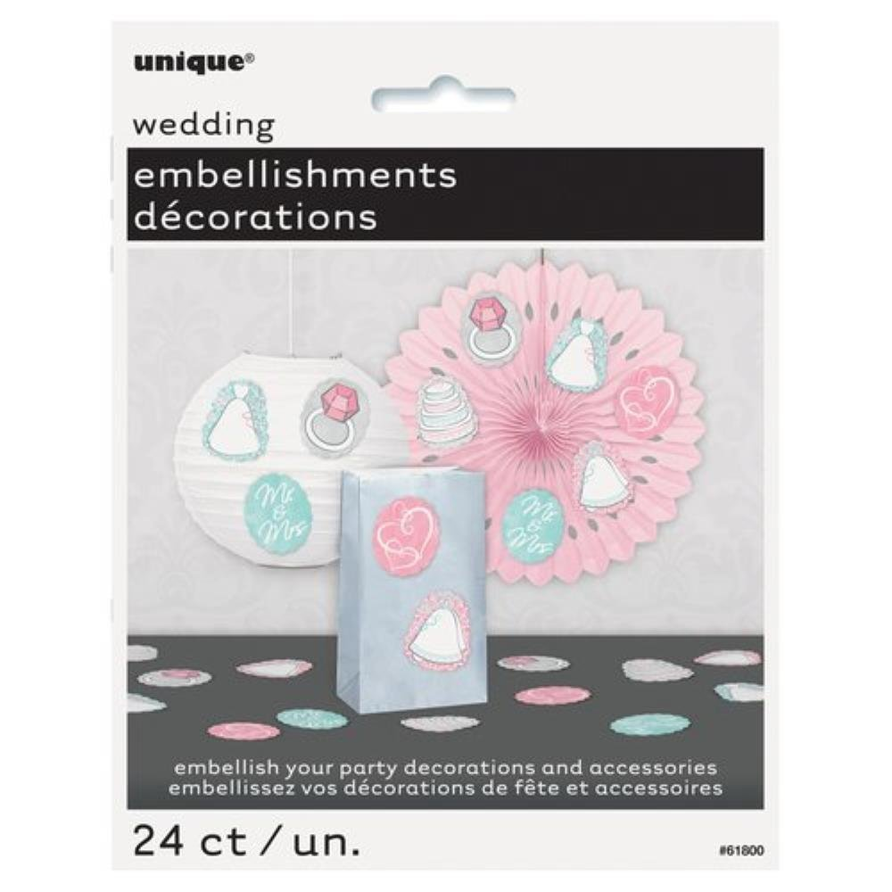 Wedding Party Embellishments, 24-Count