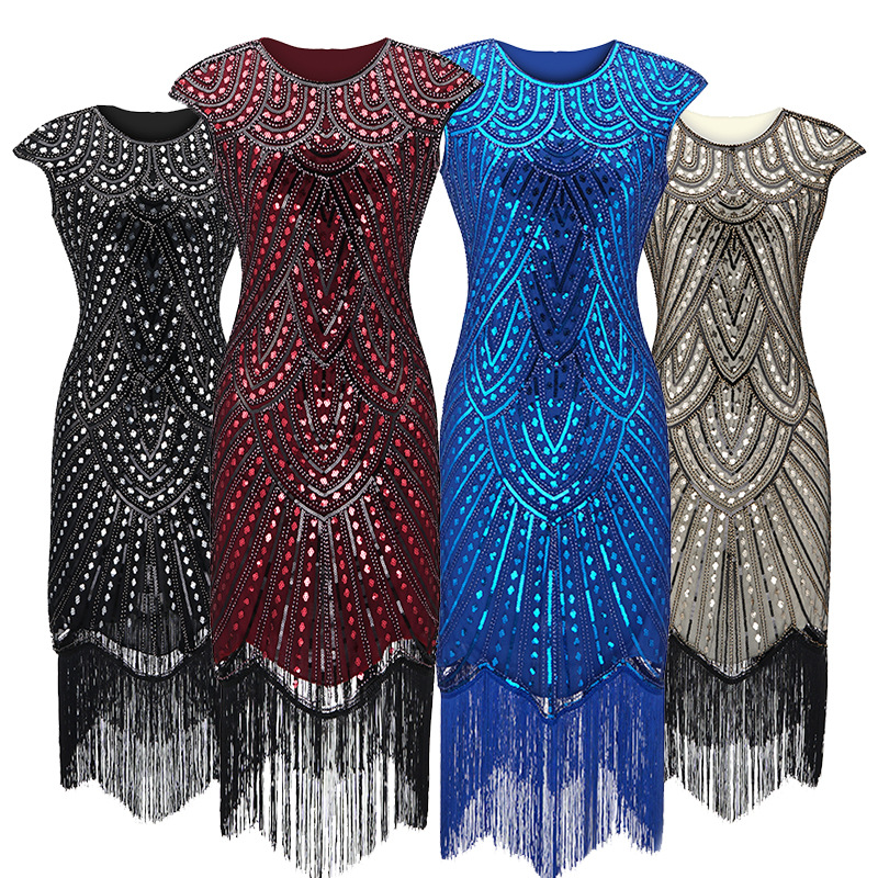 2019 Newest Women's 1920s <strong>Vintage</strong> Sequin Full Fringed <strong>Inspired</strong> Flapper <strong>Dress</strong> Roaring Great Gatsby <strong>Dress</strong>