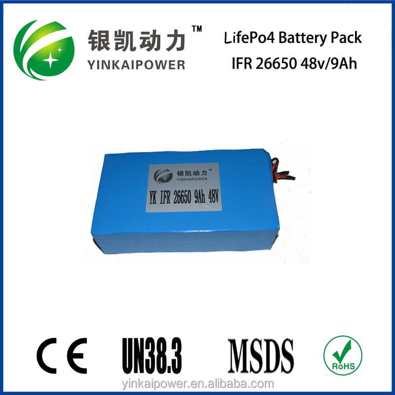 rechargeable 48 v 9ah lifepo4 battery pack/ups for module, ebike, scooter, skateboard