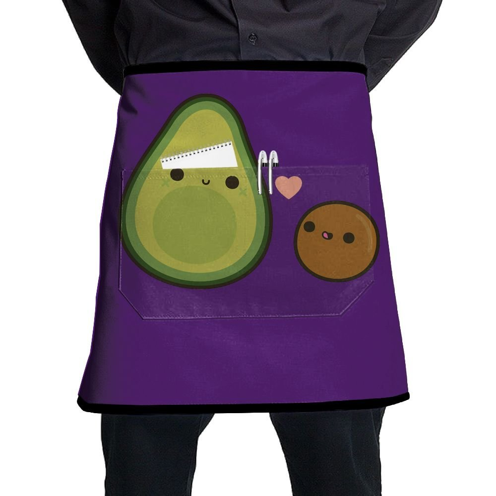 Bakers Apron, Cooking Salon Aprons With Pocket, Chef Aprons For Women Waterproof Free Size, Kitchen Accessories, Cute Avocado Purple